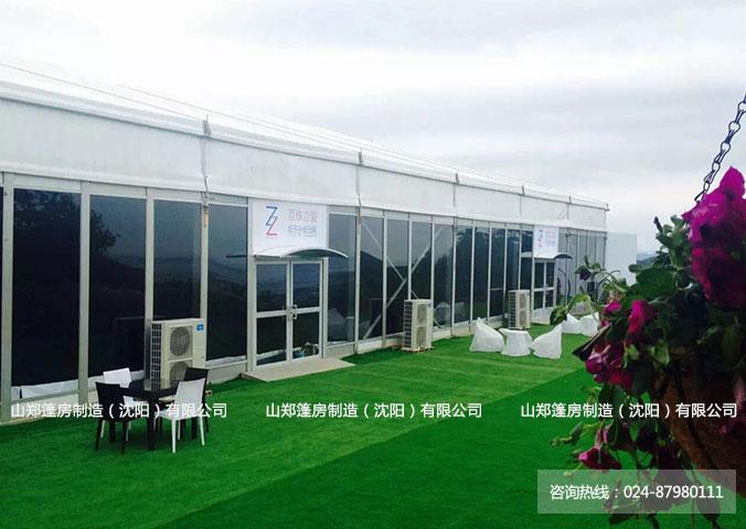 玻璃墙体车展篷房